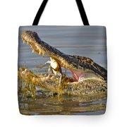 Alligator Get Lunch Tote Bag