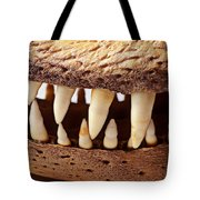 Alligator Skull Teeth Tote Bag