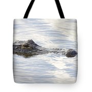 Alligator With Sky Reflections - A Closer View Tote Bag
