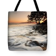 Alone With The Sea Tote Bag by Mike  Dawson