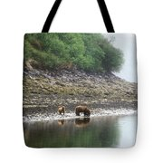 Along Geographic Bay Tote Bag