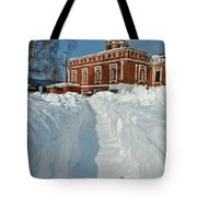 Along The Path To The Church Tote Bag