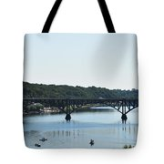 Along The Schuylkill River At Strawberry Mansion Tote Bag