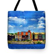 Along The Tennessee River In Decatur Alabama Tote Bag