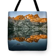 Alpenglow At Upper Sardine Lake Tote Bag
