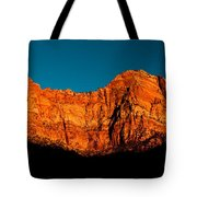 Alpenglow In Zion Canyon Tote Bag