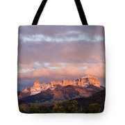 Alpenglow On The Cimarron Mountains - D003083a Tote Bag