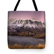 Alpenglow Over The Clyde River Tote Bag
