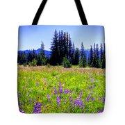 Alpine Meadow V At Mount Rainier Tote Bag