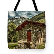 Alpine Ruins Tote Bag