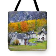 Alpine Village In Autumn Tote Bag