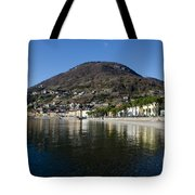 Alpine Village Reflected In The Lake Tote Bag