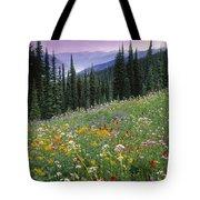 Alpine Wildflower Meadow, Mount Tote Bag