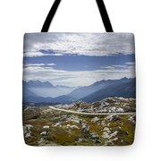 Alps And Road Tote Bag