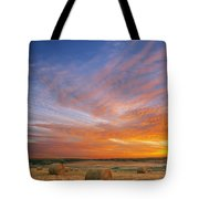 Amazing Sunset Over Pasture Tote Bag