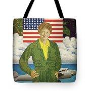 Amelia Earhart Calendar Art Tote Bag