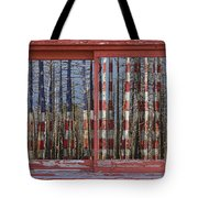 America Still Beautiful Red Picture Window Frame Photo Art View Tote Bag