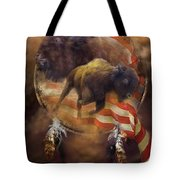 American Buffalo Tote Bag by Carol Cavalaris