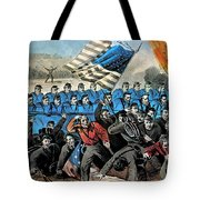 American Civil War, Battle Of Malvern Tote Bag by Photo Researchers