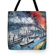 American Civil War, Farraguts Fleet Tote Bag