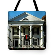 American Colonial Architecture Christmas  Tote Bag