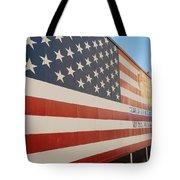 American Flag At Nathan's Tote Bag