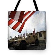 American Flags Are Displayed Tote Bag