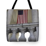 American Flags Hang In The Amphitheatre Tote Bag