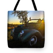 American Hot Rod Sunset Tote Bag
