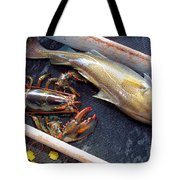 American Lobster And Cod Caught Off Chatham On Cape Cod Tote Bag