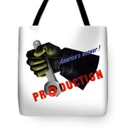 America's Answer -- Production  Tote Bag