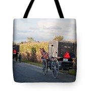 Amish Buggies October Road Tote Bag