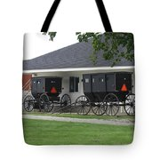 Amish Buggies Parked Tote Bag