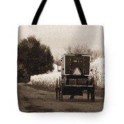 Amish Buggy And Wagon Tote Bag