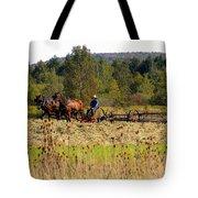 Amish Farming Tote Bag