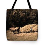Amish Hay Wagon Tote Bag by Tom Mc Nemar
