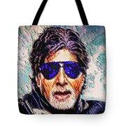 Amitabh Bachchan - God Of Bollywood Tote Bag