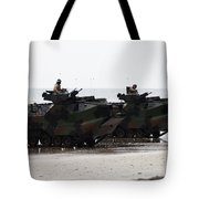 Amphibious Assault Vehicles Land Ashore Tote Bag