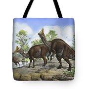 Amurosaurus Riabinini Dinosaurs Grazing Tote Bag
