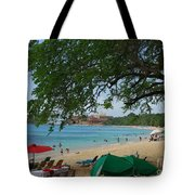 An Active Sosua Beach In Dr Tote Bag