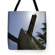 An Actual World War II Beach Obstacle Tote Bag by Michael Wood