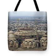 An Aerial View Of Saddam Hussiens Great Tote Bag by Terry Moore