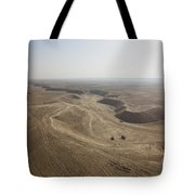 An Aerial View Of The Wadi Over Kunduz Tote Bag