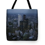 An Aerial View Of Toronto At Dusk Tote Bag