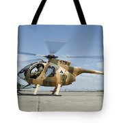 An Afghan Air Force Md-530f Helicopter Tote Bag