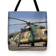 An Afghan Air Force Mi-17 Helicopter Tote Bag