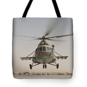An Afghan Air Force Russian Mil Mi-17 Tote Bag
