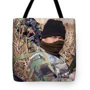 An Afghan Commando On Patrol Tote Bag by Stocktrek Images