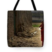 An Afghan Girl Carries Her Little Tote Bag