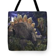 An Allosaurus Stumbles Upon A Grazing Tote Bag